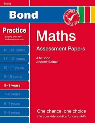 Bond Assessment Papers Maths 8-9 yrs by Baines, Andrew Book The Cheap Fast Free