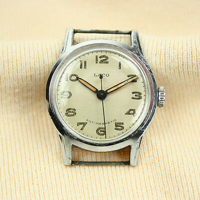 LACO Antimagnetic 526 Handaufzug Uhr Herrenuhr mechanisch Vintage Alt 1940s