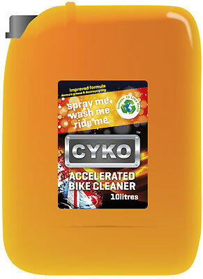 CYKO Accelerated Motor Bike Cleaner 10 Ltr Refill Tub
