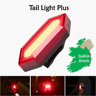 Waterproof COB LED Bicycle Bike Front Rear Tail Light USB Rechargeable 7 modes
