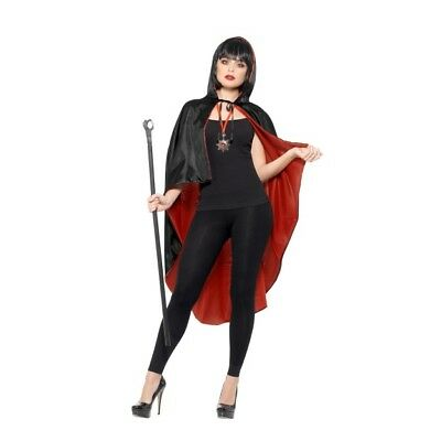 Vampire Kit with Reversible Cape Ladies Vampiress Halloween Fancy Dress