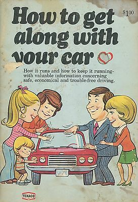 vintage 1974 Texaco booklet How to Get Along with Your Car