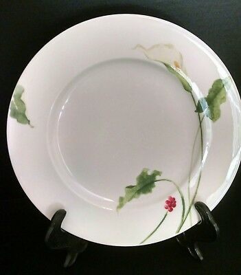7 Mikasa Optima Super Strong CLASSIC CALLA Lily 11\  Dinner Plates & 4 Mikasa Optima Super Strong Fine China # Y4002 Poppy Memory Dinner ...