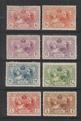 SPAIN 1907 Madrid Industrial Expo 6 Stamps plus 2 Color Varieties