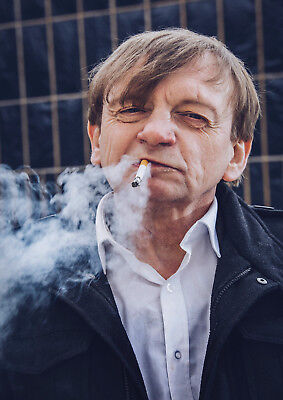 Reproduction Mark E Smith Poster, The Fall, Manchester, Cigarette