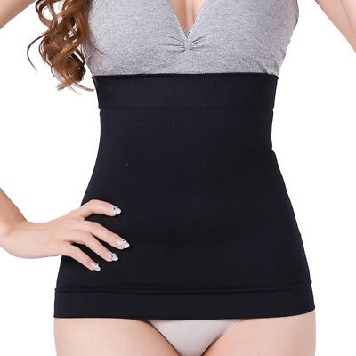 Black Seamless Waist Slimming Cincher Tummy Tuck Belt Body Shaper Girdle