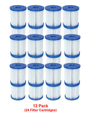 Bestway - 24 Filter Cartridges Size 1 - For 300/330 gal/hr Swimming Pool Pumps