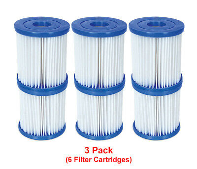 Bestway - 6 Filter Cartridges Size 1 - For 300/330 gal/hr Swimming Pool Pumps
