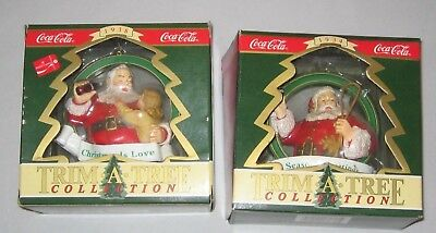2 Trim A Tree Collection Ornaments CocaCola Christmas Is Love & Season'sGreeting