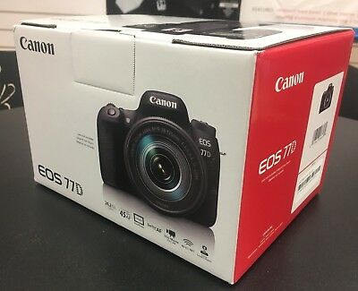 Canon EOS 77D 24.2 MP Digital SLR Camera (Body Only) #1892C001 *OPEN BOX*