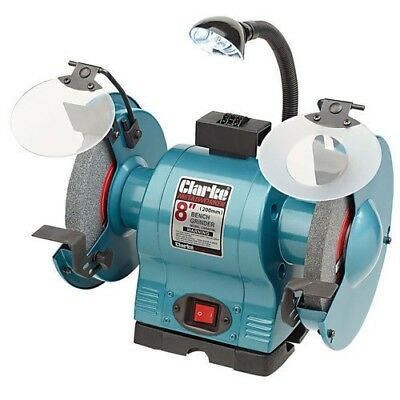 "Clarke CBG8370L 8"" Bench Grinder With Lamp 6500532"