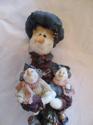 """Boyds Bears & Friends ~ The Bearstone Collection ~ """"Nanny...The Snowman"""" ~ Mint"""