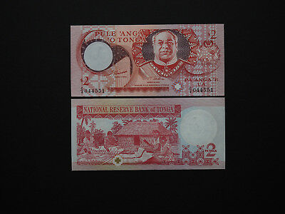 Tonga Banknotes beautiful $2 Issue Date 1995  -  Excellent decoration   MINT UNC