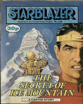 The Secret Of Ice Mountain,starblazer Fantasy Fiction In Pictures,no.228,comic