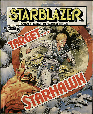 Target Starhawk,starblazer Fantasy Fiction In Pictures,no.222,1988,comic