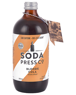 Soda Press Co Blonde Cola Organic Soda and MIxing Syrup 500mL bottle