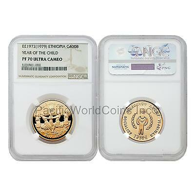 Ethiopia 1979 (EE1972) Year of Child 400 Birr Gold NGC PF70 ULTRA CAMEO