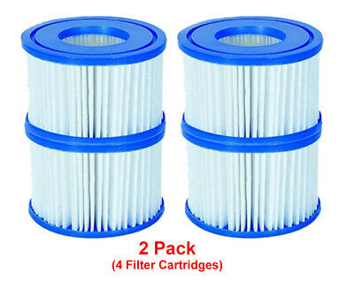 Bestway 4 Filter Cartridges VI 58323, Lay-Z-Spa Miami Monaco Vegas Palm Springs