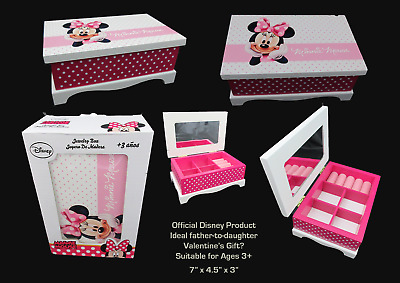Official Disney Minnie Mouse Child's Jewellery Box Suitable for Age 3+ NIB