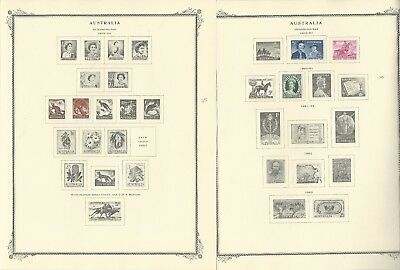 Australia & Antarctic Collection 1913-1973 on 40 Scott Specialty Pages
