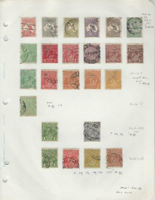 Australia Collection of Early Classics on Quad Page, All Different