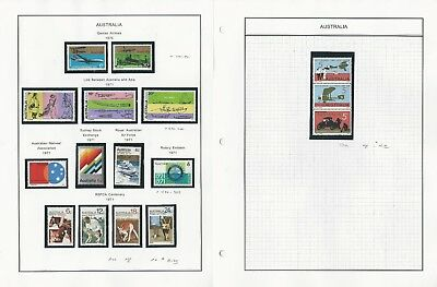 Australia Collection 1968-71 on 4 Album Pages, #434//517 Mint NH