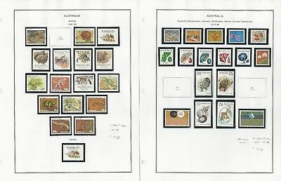 Australia Collection 1973-94 on 4 Album Pages, Mint NH