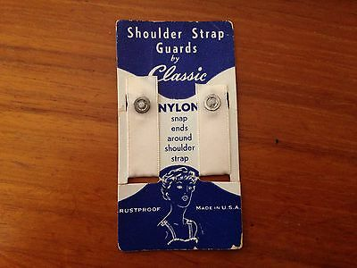 Vintage 1950's Nylon Shoulder Bra Strap Guards by Classic NOS New on Card