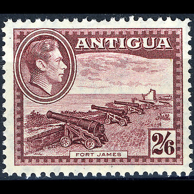 ANTIGUA 1938-51 2s6d Fort James. SG 106a Mint Never Hinged. (CA19R)