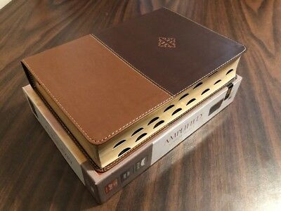 Amplified Study Bible Large Print Indexed - Brown Leathersoft - $69.99 Retail