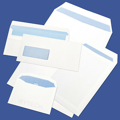 White A6 A4 A5 DL Envelopes Plain Or Window Self Seal Quality SS GSM C6 C4 C5
