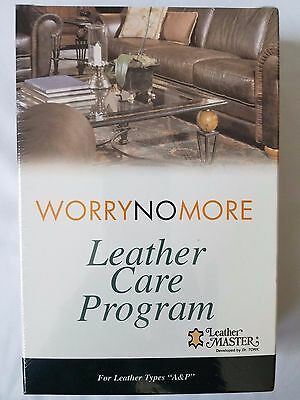 Worry No More  Leather Master Leather Care Program for Leather Types A&P New