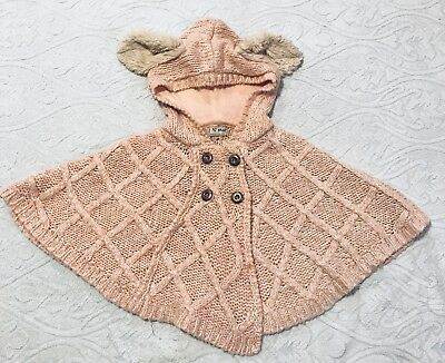 Baby Girls Knitted Poncho. 1-2 Years. Next . Excellent condition.