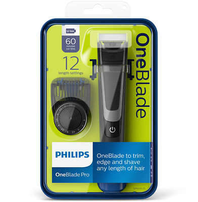 Philips OneBlade Pro Trimmer Styler Shaver 12-length Comb Wet Dry QP6510/25