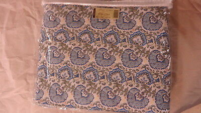 Longaberger Earth & and Sky Reversible Quilted 100% Cotton Fabric Throw Blanket