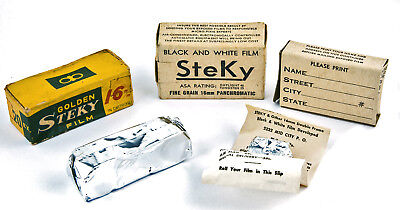 Steky & Golden Steky Film - Vintage NOS in BOXES Complete with Films 1950's