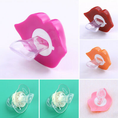 Funny Baby Boy Girl Silicone Dummy Pacifier Cute Orthodontic KISS Nipple