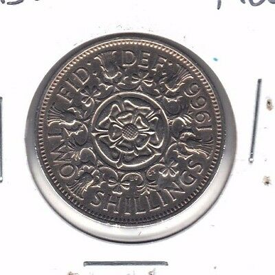 Great Britain 1966 Bu Two Shilling Coin