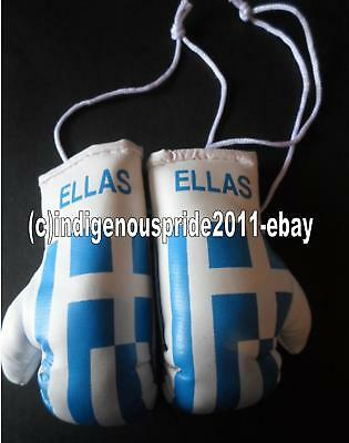 Greece Flag/Greek/Greece mini boxing gloves for your car mirror-Get the best.