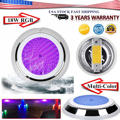 18W 12V RGB Swimming 252 LED Pool Light Spa Underwater Light IP68 Resin filled