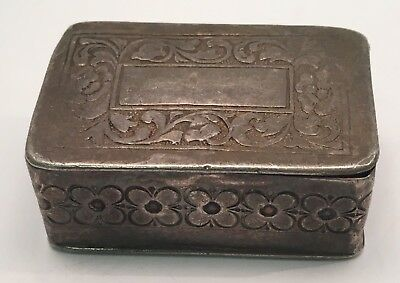 Vintage Sterling Pill Ring Box