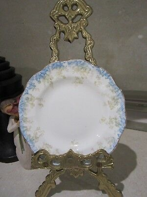 2x  Vintage Allertons Side Plates Blue Trailing Ivy design