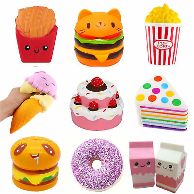 Jumbo Slow Rising Squishies Scented Craze Squishy Toy Charms Stress Reliever Lot