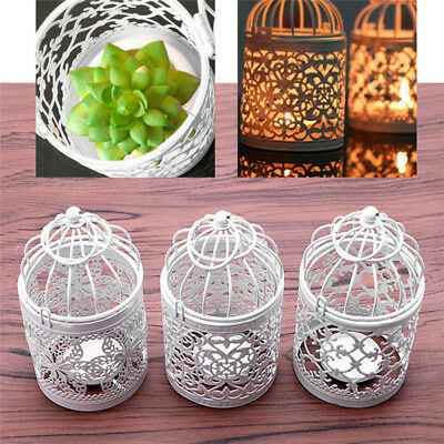 Morocco Dedication Metal Cage Hanging Lanterns Wedding Candle Holders Home Decor