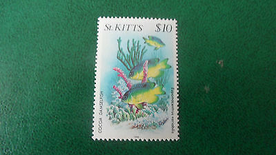 St. Kitts 1984 Sg 156 $10  Marine Wildlife. Mnh