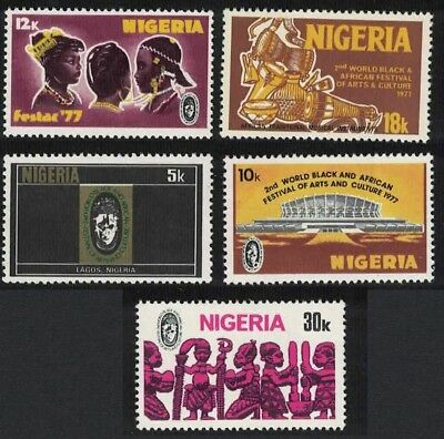 Nigeria 2nd World Black and African Festival of Arts and Culture Nigeria 5v