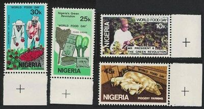 Nigeria Pigs Tomatoes World Food Day 4v margins SG#423-426