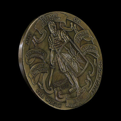 Helmet Of Salvation Put On The Whole Armor Of God Ephesians Commemorative Coin !