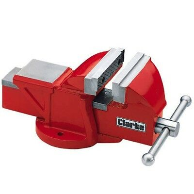 Clarke CV4RB 100mm Atelier Vice (Base Fixe, Rouge) 6504002