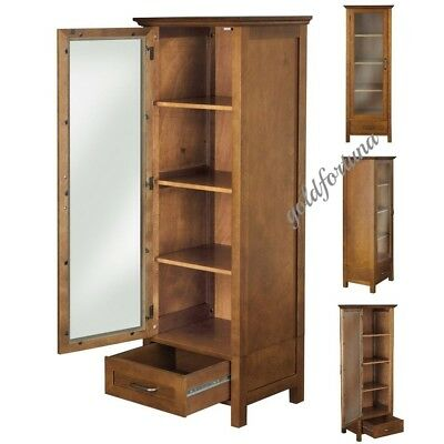 Accent Storage Cabinet Adjustable Shelves Antique 2 Door Floor